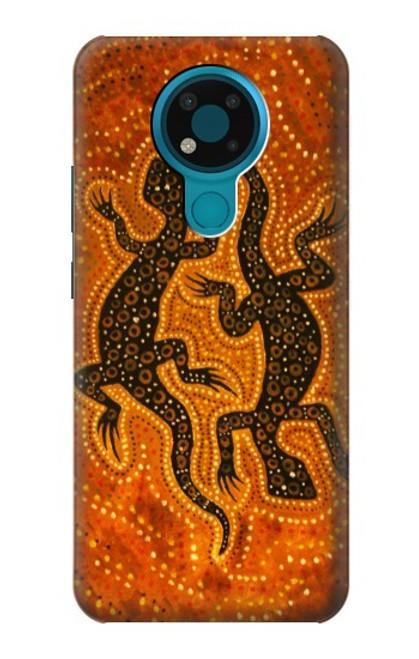 S2901 Lezard Art autochtone Etui Coque Housse pour Nokia 3.4