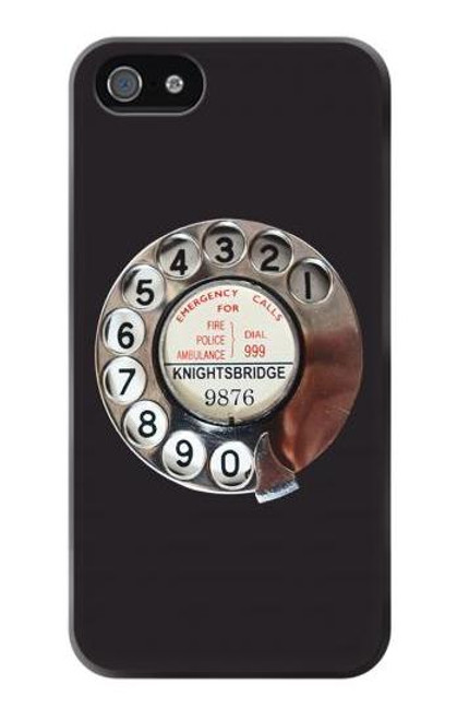 S0059 Retro Rotary Phone Dial On Etui Coque Housse pour iPhone 5 5S SE