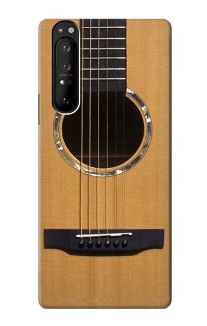 S0057 Guitare acoustique Etui Coque Housse pour Sony Xperia 1 III