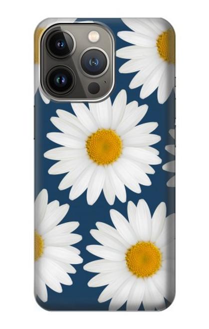 S3009 Daisy bleu Etui Coque Housse pour iPhone 13 Pro