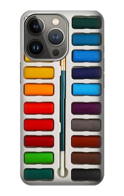 S3243 Ensemble de peinture aquarelle Etui Coque Housse pour iPhone 13 Pro