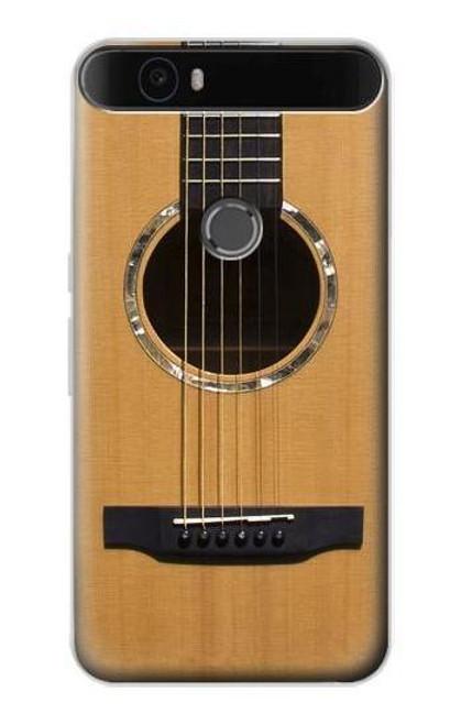 S0057 Acoustic Guitar Etui Coque Housse pour Huawei Nexus 6P