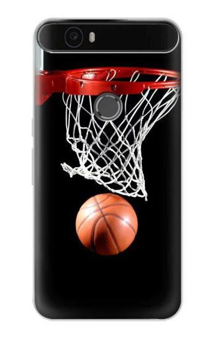 S0066 Basketball Etui Coque Housse pour Huawei Nexus 6P