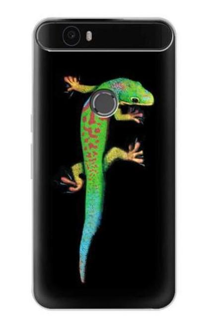 S0125 Green Madagascan Gecko Etui Coque Housse pour Huawei Nexus 6P
