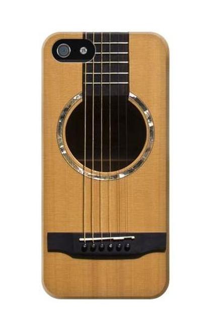 S0057 Acoustic Guitar Etui Coque Housse pour iPhone 5C
