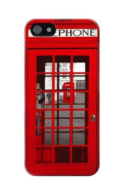 S0058 British Red Telephone Box Etui Coque Housse pour iPhone 5C