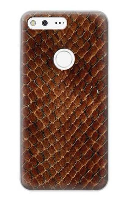 S0555 Snake Skin Etui Coque Housse pour Google Pixel XL