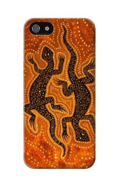 S2901 Lizard Aboriginal Art Etui Coque Housse pour iPhone 5C