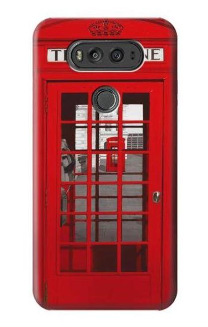 S0058 British Red Telephone Box Etui Coque Housse pour LG V20