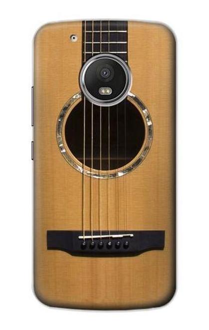 S0057 Acoustic Guitar Etui Coque Housse pour Motorola Moto G5 Plus