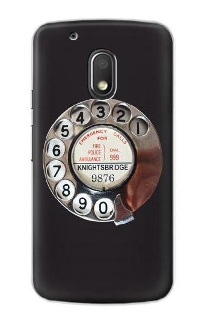 S0059 Retro Rotary Phone Dial On Etui Coque Housse pour Motorola Moto G4 Play
