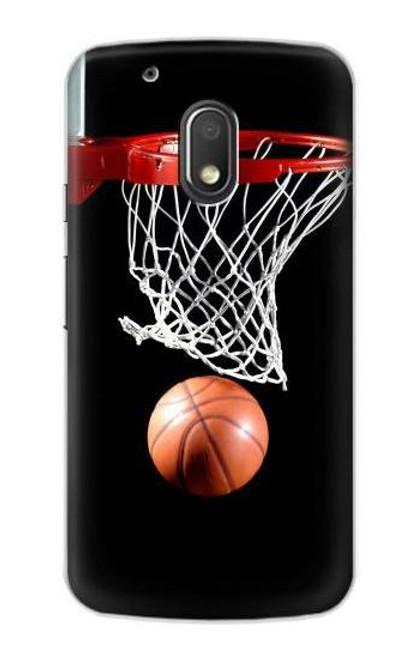 S0066 Basketball Etui Coque Housse pour Motorola Moto G4 Play
