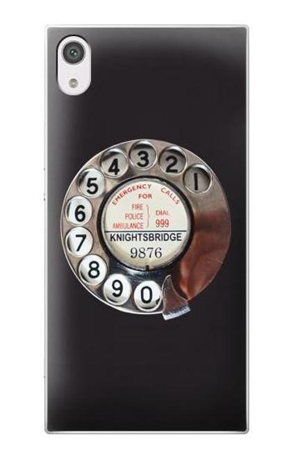 S0059 Retro Rotary Phone Dial On Etui Coque Housse pour Sony Xperia XA1