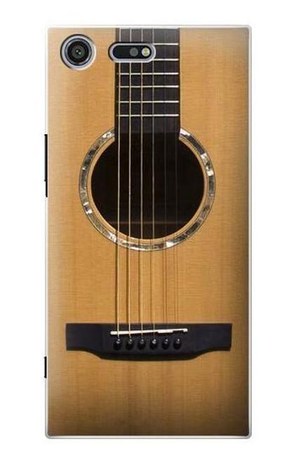 S0057 Acoustic Guitar Etui Coque Housse pour Sony Xperia XZ Premium