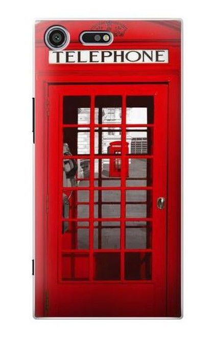 S0058 British Red Telephone Box Etui Coque Housse pour Sony Xperia XZ Premium