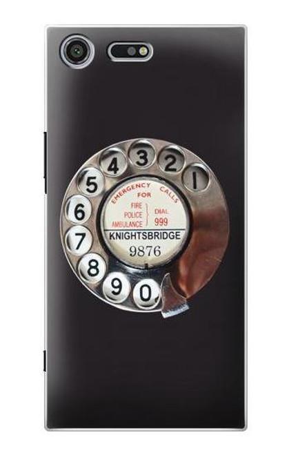 S0059 Retro Rotary Phone Dial On Etui Coque Housse pour Sony Xperia XZ Premium