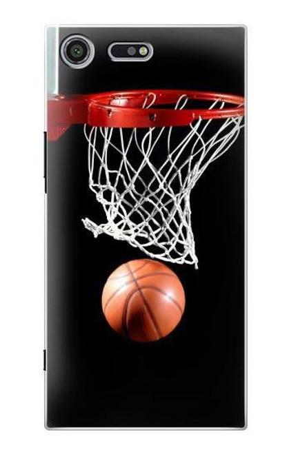 S0066 Basketball Etui Coque Housse pour Sony Xperia XZ Premium