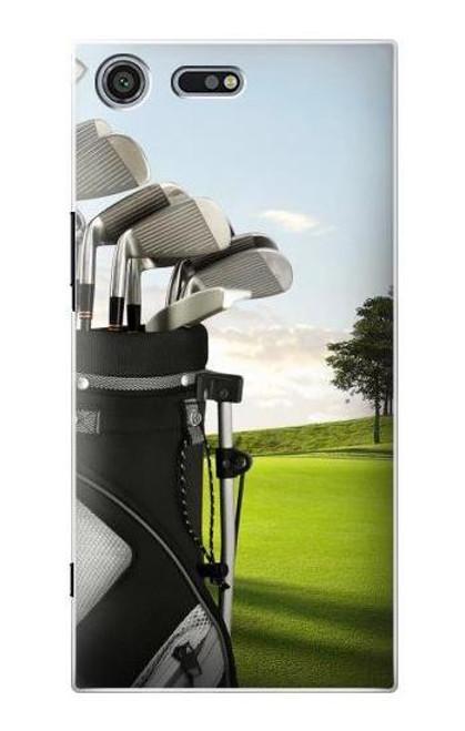 S0067 Golf Etui Coque Housse pour Sony Xperia XZ Premium