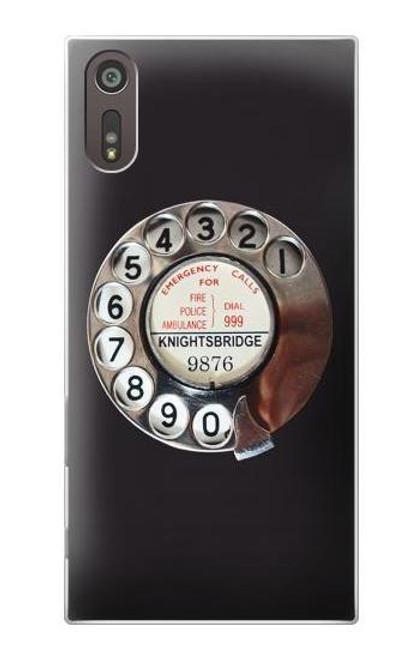 S0059 Retro Rotary Phone Dial On Etui Coque Housse pour Sony Xperia XZ