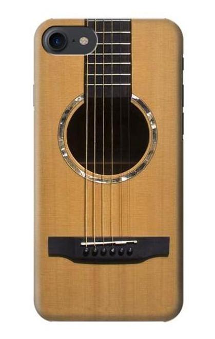 S0057 Acoustic Guitar Etui Coque Housse pour iPhone 7, iPhone 8