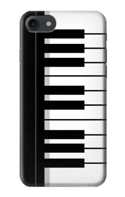 S3078 Black and White Piano Keyboard Etui Coque Housse pour iPhone 7, iPhone 8