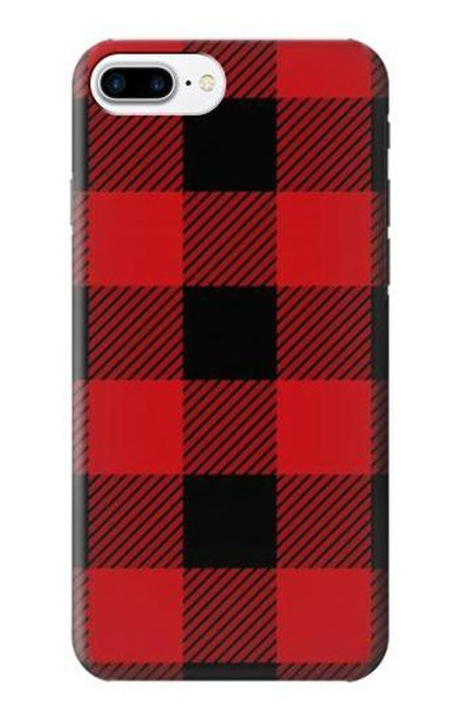 S2931 Red Buffalo Check Pattern Etui Coque Housse pour iPhone 7 Plus, iPhone 8 Plus