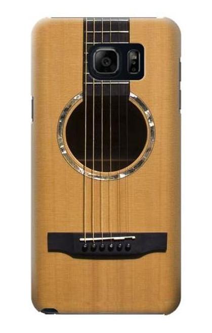 S0057 Acoustic Guitar Etui Coque Housse pour Samsung Galaxy S6 Edge Plus