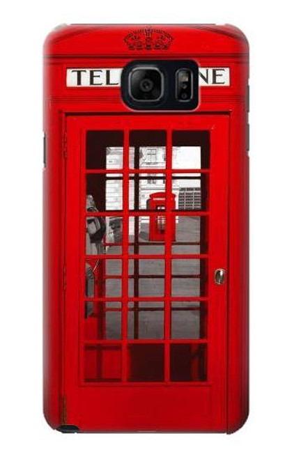 S0058 British Red Telephone Box Etui Coque Housse pour Samsung Galaxy S6 Edge Plus