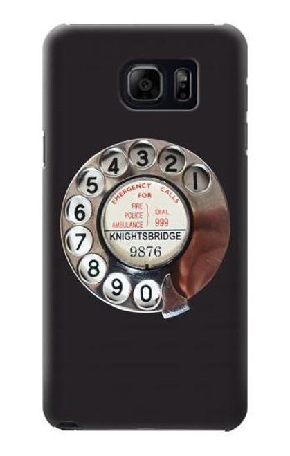 S0059 Retro Rotary Phone Dial On Etui Coque Housse pour Samsung Galaxy S6 Edge Plus