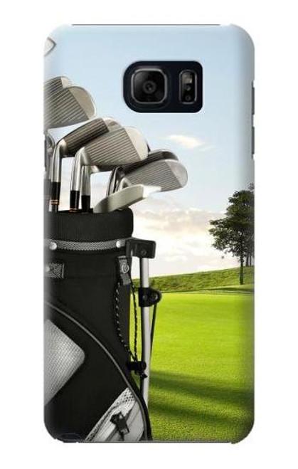 S0067 Golf Etui Coque Housse pour Samsung Galaxy S6 Edge Plus