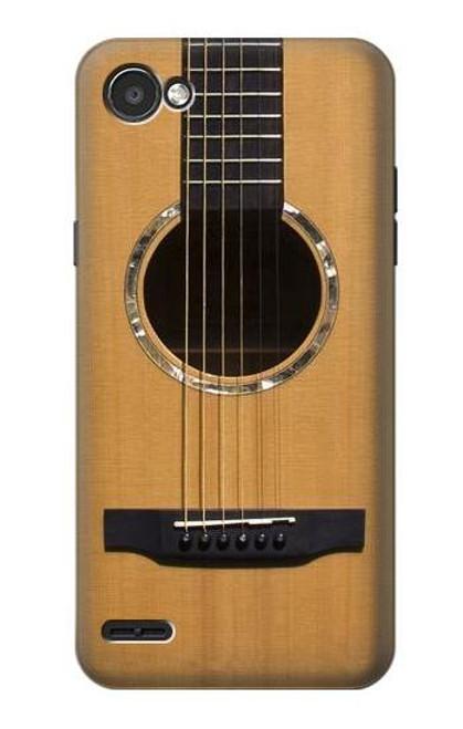 S0057 Acoustic Guitar Etui Coque Housse pour LG Q6