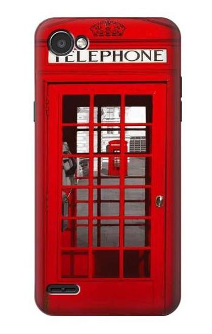 S0058 British Red Telephone Box Etui Coque Housse pour LG Q6