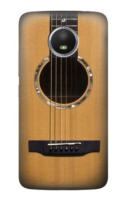 S0057 Acoustic Guitar Etui Coque Housse pour Motorola Moto E4 Plus