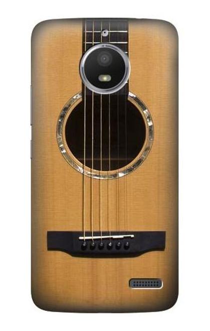 S0057 Acoustic Guitar Etui Coque Housse pour Motorola Moto E4