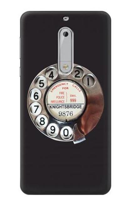 S0059 Retro Rotary Phone Dial On Etui Coque Housse pour Nokia 5