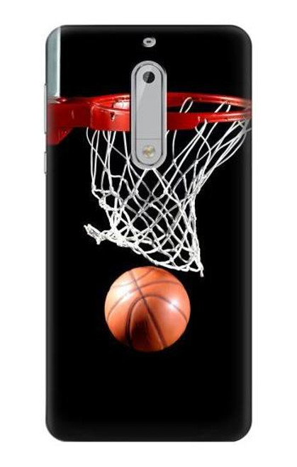 S0066 Basketball Etui Coque Housse pour Nokia 5