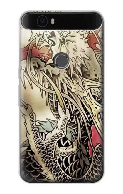 S0122 Yakuza Tattoo Etui Coque Housse pour Huawei Nexus 6P
