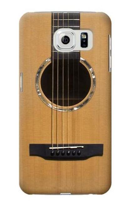 S0057 Acoustic Guitar Etui Coque Housse pour Samsung Galaxy S6