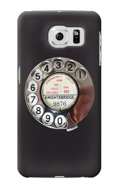S0059 Retro Rotary Phone Dial On Etui Coque Housse pour Samsung Galaxy S6