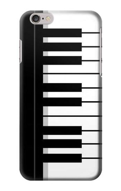 S3078 Black and White Piano Keyboard Etui Coque Housse pour iPhone 6 6S