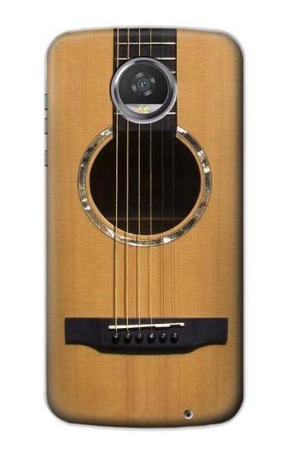 S0057 Acoustic Guitar Etui Coque Housse pour Motorola Moto Z2 Play, Z2 Force
