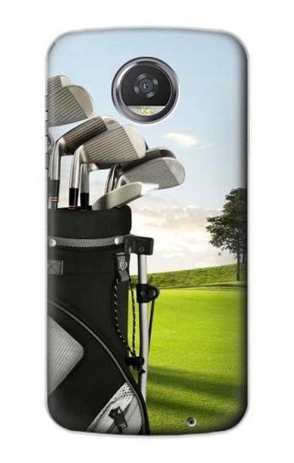 S0067 Golf Etui Coque Housse pour Motorola Moto Z2 Play, Z2 Force