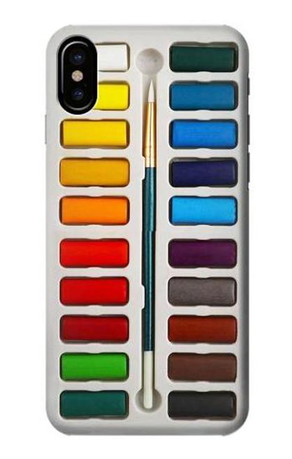 S3243 Watercolor Paint Set Etui Coque Housse pour iPhone 7, iPhone 8