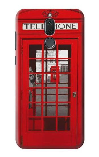 S0058 British Red Telephone Box Etui Coque Housse pour Huawei Mate 10 Lite