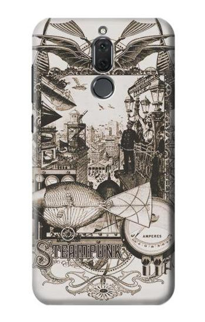 S1681 Steampunk Drawing Etui Coque Housse pour Huawei Mate 10 Lite