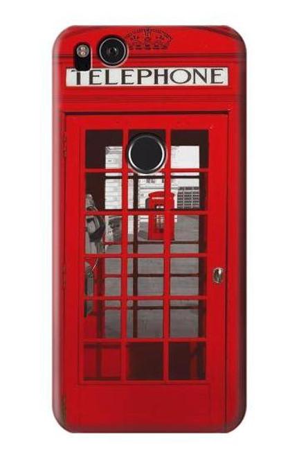 S0058 British Red Telephone Box Etui Coque Housse pour Google Pixel 2