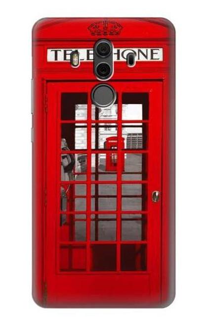 S0058 British Red Telephone Box Etui Coque Housse pour Huawei Mate 10 Pro, Porsche Design
