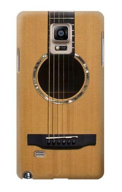 S0057 Acoustic Guitar Etui Coque Housse pour Samsung Galaxy Note 4