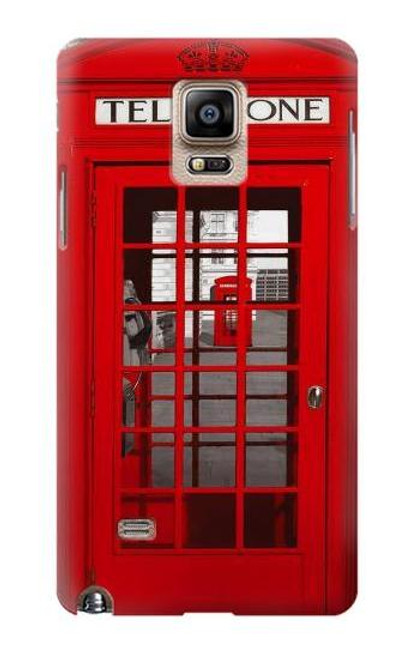 S0058 British Red Telephone Box Etui Coque Housse pour Samsung Galaxy Note 4
