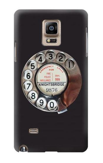 S0059 Retro Rotary Phone Dial On Etui Coque Housse pour Samsung Galaxy Note 4